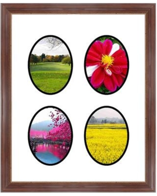 Frames By Mail 4 Opening Collage Picture Frame multimat-58936-434b / multimat-58936-aam6003 Color: Mahogany