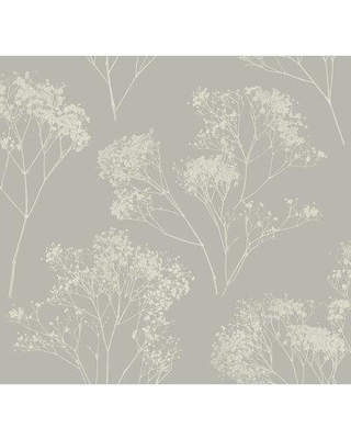 """York Wallcoverings Boho Bouquet 27' L x 27"""" W Wallpaper Roll VA12 Color: Taupe"""