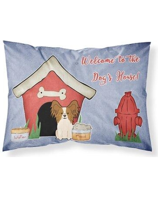 East Urban Home Dog House Pillowcase W001228994 Dog Breed: Red White Papillon