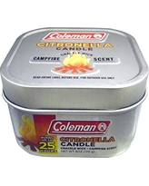 Coleman Campfire Scented Citronella Outdoor Candle, Crackle Wick