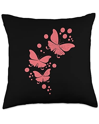 Butterfly Lover Cool Nature Butterflies Gifts Cute Nature Gifts Insect Lover Butterflies Print Throw Pillow, 18x18, Multicolor