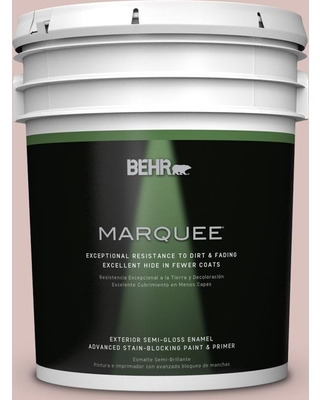 New Deal For Behr Marquee 5 Gal Ppu17 08 Peony Blush Semi Gloss Enamel Exterior Paint Primer