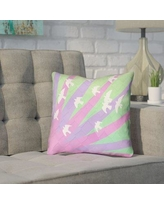 """Brayden Studio Enciso Modern Birds and Sun Pillow Cover BYST7125 Size: 18"""" H x 18"""" W, Color: Purple/Green"""