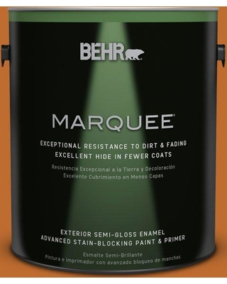 BEHR MARQUEE 1 gal. #S-H-260 Tiger Stripe Semi-Gloss Enamel Exterior Paint and Primer in One