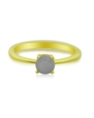 Round Moonstone (1 ct. t.w.) Stack Ring Set in Gold Plated Sterling Silver
