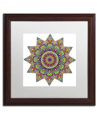 "Trademark Fine Art 'Sparkling Sunny Day Mandala' Framed Graphic Art on Canvas ALI3409-W1111BMF / ALI3409-W1616BMF Size: 11"" H x 11"" W x 0.5"" D Matte Color: White"