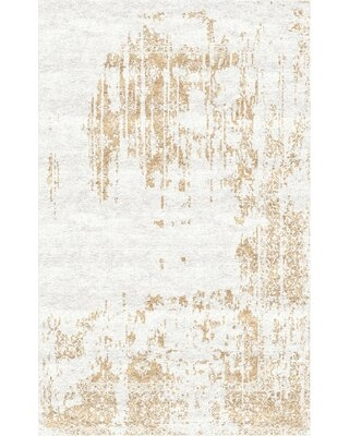 Faucett Handloom Ivory/Akaroa Beige Area Rug Bloomsbury Market Rug Size: Rectangle 9' x 12'