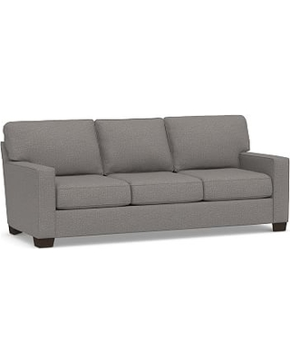 "Buchanan Square Arm Upholstered Grand Sofa 89.5"", Polyester Wrapped Cushions, Performance Chateau Basketweave Blue"