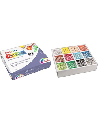 Pentel Arts Oil Pastels, Carrying Case, Assorted Colors, 432/St | Quill