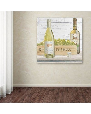 """Trademark Fine Art 'Vintners Recess III' Graphic Art Print on Wrapped Canvas WAP01741-C Size: 18"""" H x 18"""" W"""