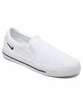 Nike Women's Court Legacy Slip-On Casual Sneakers from Finish Line - White, Black
