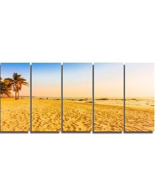 New Deals On Design Art Coconut Palm Trees On Beach 5 Piece Photographic Print On Wrapped Canvas Set Canvas Fabric In Brown Blue Wayfair Pt8982 401