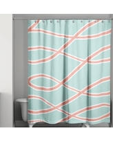 Special Prices On Bailea Abstract Single Shower Curtain Latitude Run