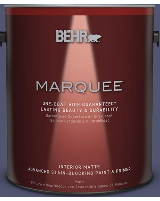 BEHR MARQUEE 1 gal. #S540-7 Bossa Nova One-Coat Hide Matte Interior Paint and Primer in One