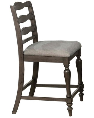 Furniture of America Set of 2 Gaylord Rustic Upholstered Dining Side Chair (Wood Frame) in Gray | IDF-3912GY-PC