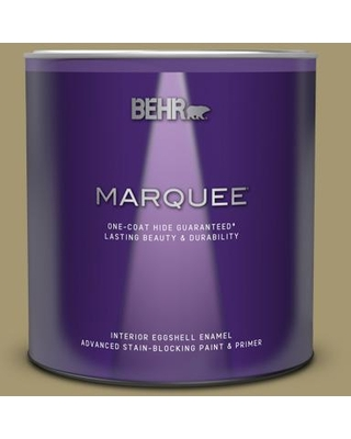 BEHR MARQUEE 1 qt. #S330-5 Dried Chive One-Coat Hide Eggshell Enamel Interior Paint & Primer