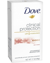 Dove Clinical Protection Clear Tone Antiperspirant Deodorant 1.7 oz, Sheer Touch