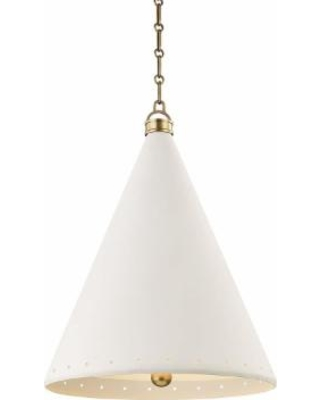 Hudson Valley Lighting Mark D. Sikes Plaster No.1 Large Pendant - MDS402-AGB/WP