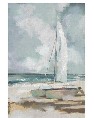 """Rosecliff Heights 'Windblown' - Unframed Painting Print on Canvas X114366783 Size: 36"""" H x 24"""" W x 1.5"""" D"""