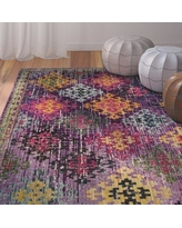 Bungalow Rose Chana Purple/Pink/Yellow Area Rug BNRS3203 Rug Size: Square 6'7""