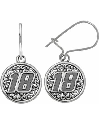 """""""Insignia Collection NASCAR Kyle Busch Stainless Steel """"18"""" Drop Earrings, Women's, Grey"""""""