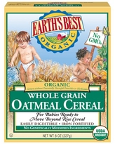 Earth's Best Organic Whole Grain Oatmeal Infant Cereal - 8 oz.