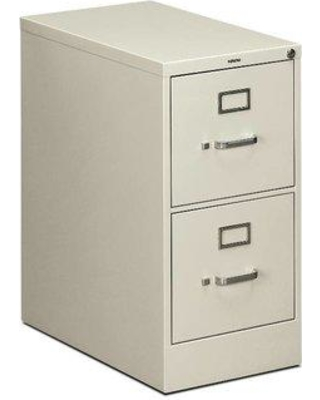 "HON 510 Series 2-Drawer Vertical Filing Cabinet, Steel/Metal in Putty, Size 29""H X 14""W X 25""D 