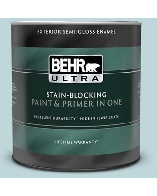 BEHR ULTRA 1 qt. #S450-2 Wind Speed Semi-Gloss Enamel Exterior Paint and Primer in One