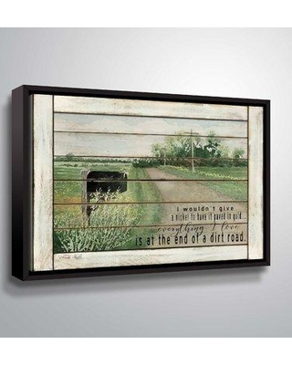 """August Grove 'The End of a Dirt Road' Graphic Art Print BI094485 Size: 8"""" H x 10"""" W x 2"""" D Format: Floater Framed"""