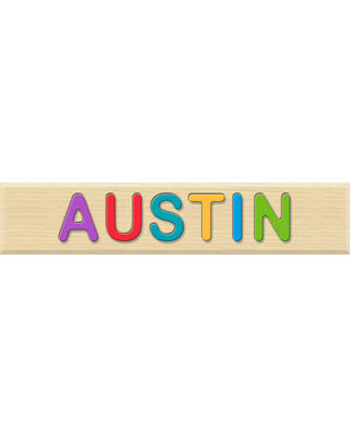 Personalized Name Puzzle - Austin - Early Learning Toys for Babies - Fat Brain Toys