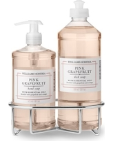Williams Sonoma Pink Grapefruit Soap & Dish Soap, Classic 3-Piece Set