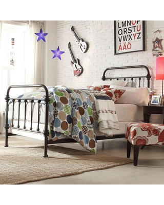 df7f0299e9b8 Can t Miss Deals on HomeSullivan Calabria Antique Brown Twin Bed Frame