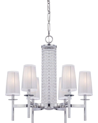 Designers Fountain Candence 6-Light Chrome Interior Incandescent Chandelier