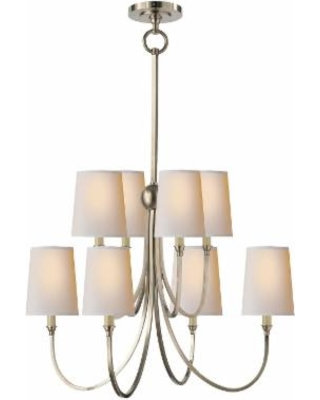 Visual Comfort and Co. Thomas O'Brien Reed 26 Inch 8 Light Chandelier - TOB 5010AN-NP