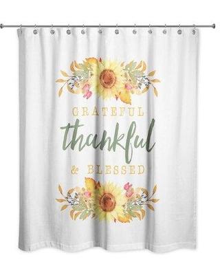 August Grove Senter Grateful Thankful and Blessed Single Shower Curtain W001956583