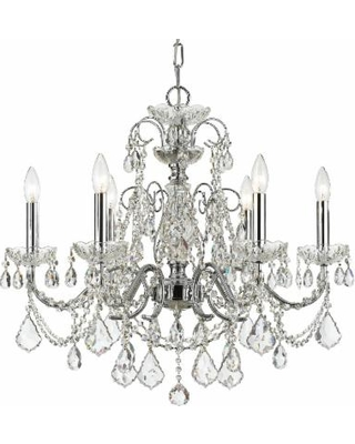Crystorama Imperial 26 Inch 6 Light Chandelier - 3226-CH-CL-SAQ