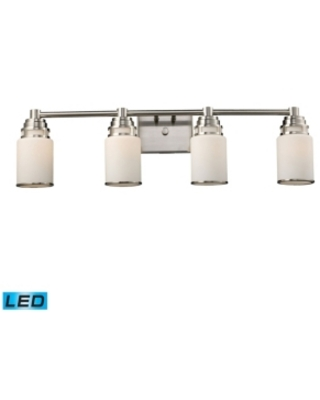 Bryant 4-Light Vanity in Satin Nickel - Led, 800 Lumens (3200 Lumens Total) with Full Scale Dimming Range