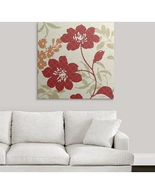 """Great Big Canvas 'Floral Shadows II' by Lisa Audit Graphic Art Print 1052937_1 Size: 35"""" H x 35"""" W x 1.5"""" D Format: Canvas"""