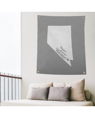 """East Urban Home Home Sweet Las Vegas Indoor/Outdoor Wall Tapestry EBIU5514 Size: 36"""" H x 26"""" W Color: Gray"""