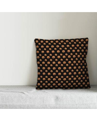 """The Holiday Aisle Stickley Pumpkin Pattern Throw Pillow W002116142 Size: 20"""" x 20"""" Location: Indoor/Outdoor Use"""
