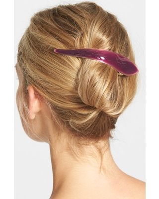 Ficcare Maximas Silky Hair Clip, Size Small - Purple