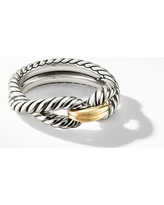 Women's David Yurman Cable Loop Ring With 18K Gold
