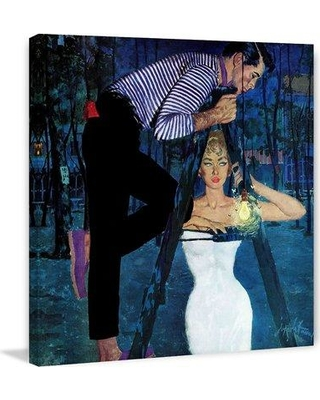 """Marmont Hill Gigilo by Coby Whitmore Painting Print on Wrapped Canvas MH-FASGLM-87-C Size: 24"""" H x 24"""" W"""
