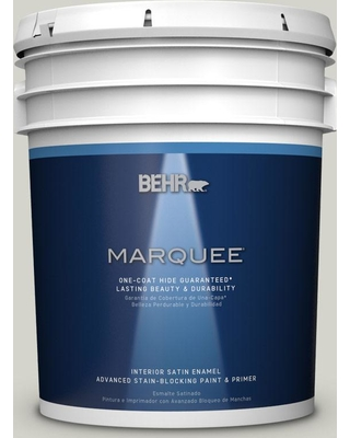 BEHR MARQUEE 5 gal. #PPU25-10 Soft Secret Satin Enamel Interior Paint and Primer in One