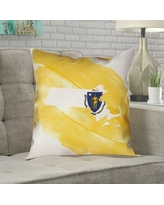 Here S A Great Deal On Ivy Bronx Mendell Nebraska Flag Sepia Pillow In Faux Suede Double Sided Print Throw Pillow Polyester Polyfill Leather Suede In Brown Yellow Blue