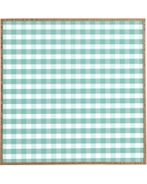 Deny Designs 'Icy Gingham' Framed Wall Art, Size 20x20 - Blue