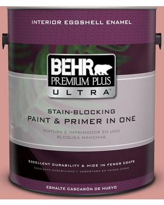 BEHR ULTRA 1 gal. #T13-15 Shanghai Peach Eggshell Enamel Interior Paint and Primer in One