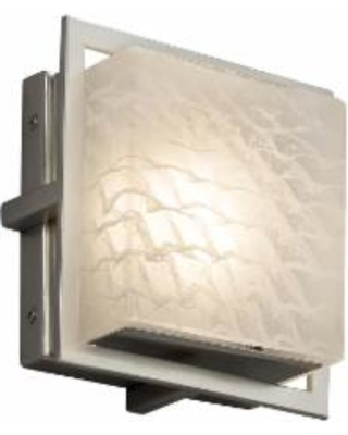 Justice Design Group Fusion 6 Inch LED Wall Sconce - FSN-7561W-WEVE-NCKL