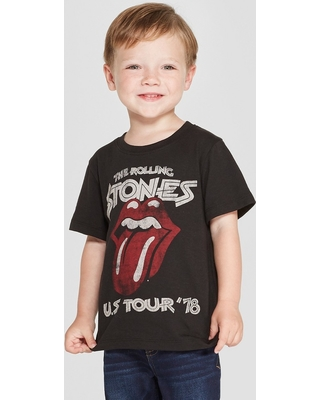 Toddler Boys' The Rolling Stones Short Sleeve Graphic T-Shirt - Black 3T