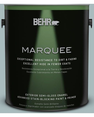 BEHR MARQUEE 1 gal. #MQ6-04 Gray Wool Semi-Gloss Enamel Exterior Paint and Primer in One